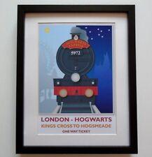 Harry Potter Inspired Hogwarts Express Platform 9 3/4 - A4 Print / Rail Poster