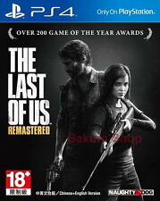 New Sony PS4 Games The Last of Us Remastered Asia HK Version Chinese/Engl Subs