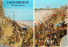 Carte postale, SAINT GILLES-CROIX-de-VIE, Le remblai de St-Gilles, écrite.