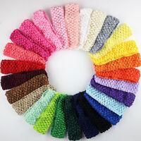 12Pcs Kids Baby Girl Crochet Elastic Hair Band Headband DIY Headwear Accessories