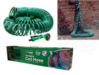 30M COIL RETRACTABLE GARDEN HOSE REEL PIPE WITH SPRAY GUN NOZZLE FITTINGS CH30M