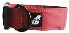 WATERPROOF BUCKLE DOG COLLAR BURGUNDY TOUGH DURABLE STINKPROOF STRONG ALL SIZES