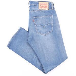 Vintage LEVI'S 501 Blue Denim Regular Straight Jeans Mens W32 L32