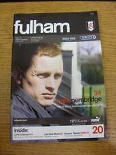 15/04/2006 V Charlton Athletic Fulham. gracias por ver este artículo, Compre Con