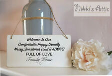 Welcome Sign, Wooden Plaque, family Home,Gift,House Warming , New Home
