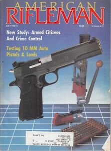 Magazine American Rifleman, JULY 1988 !!! Japanese PARATROOP Type 2 RIFLE ! /l7