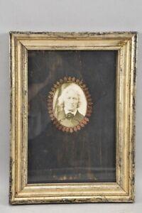 k65p03- Porträt Jacob Grimm, verso bez., mit altem Rahmen