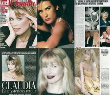 Paris Match Claudia Schiffer,Demi Moore,Jacques Villeneuve