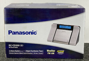 Panasonic RC-CD3500 3-Alarm Clock CD Player AM/FM Radio