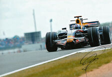 David Coulthard mano firmato RED BULL RACING FOTO 12X8 11.