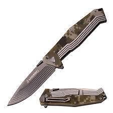 """USMC USM3002DG Framelock Folding Knife 3.5"""" Blade 4.75"""" Closed  Digital Camo"""
