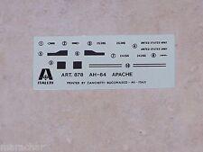 DECALS ITALERI 1/144ème AH-64 APACHE