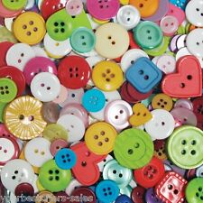 Assorted Buttons Lot Nylon Bag Of Buttons Heart Shape Buttons Sewing Buttons New