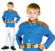 Childrens Blu Principe William Fancy Dress Costume Affascinante Ragazzi Bambino Vestito S