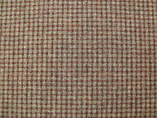 100% Pure New Wool Small Check Tweed Fabric 1.9 m