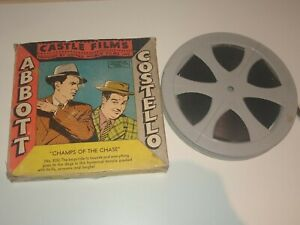 Vintage 16mm Castle Film Abbott & Costello Champs of the Chase Movie