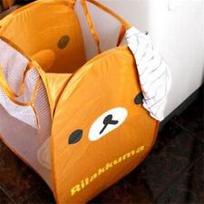 Fd4304 □ Cartoon Rilakkuma Relax Brown Bear Laundry Bag Foldable Storage Basket