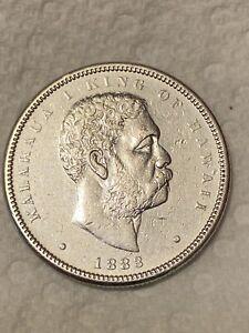 1883 Kingdom of Hawaii Silver Half Dollar (AU+++++++) Kalakaua 50c Hapalua