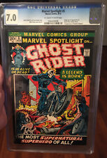 Marvel Spotlight #5 CGC 7.0 8/72 OW To White Pages 1st Johnny Blaze