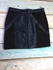 Pink Stitch Pleather Navy blue and Black Mini Skirt Size 8