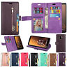 Flip Leather Wallet Case Cover Zip Purse For Samsung Galaxy J4 J6 J8 A6 2018 New
