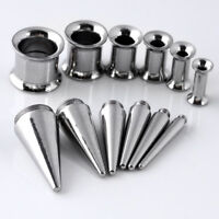 Stainless Steel Ear Plug Taper Gauges Expander Stretcher Stretching Piercing