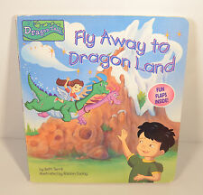 "2000 Fly Away To Dragon Tales Land 9""x8"" Hidden Flap Book CTW Books (16 flaps)"