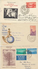 THREE FDC INDIA COVERS FROM 1950s