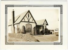 1937 Wonderful Art Deco Stucco & Timber House Snapshot