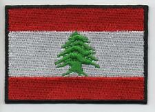 LEBANON Flag Large 7.5cm High Quality Embroided Iron On / Sew On Patch Badge