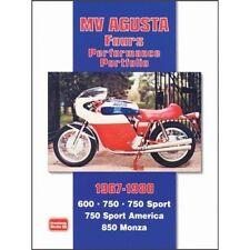 MV AGUSTA Cartera de papel de 1967-1980 libros de rendimiento de cuatro