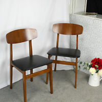 A Pair of Butterfly Backed Dining Chairs - Mid Century Modern Design Style.