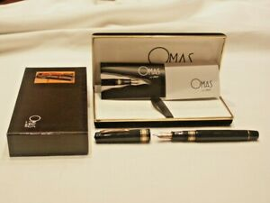 OMAS EXTRA PARAGON FOUNTAIN PEN - NIB 585 BB - MID 80s NEW