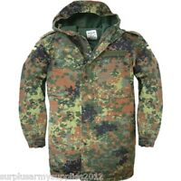GERMAN ARMY FLECKTARN PARKA VINTAGE FESTIVAL JACKET PAINTBALLING AIRSOFT FISHING