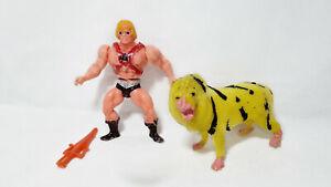 MASTERS OF THE UNIVERSE HE-MAN + BATTLE CAT KO MOTU MEXICO BOOTLEG FIGUR 80er