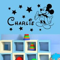 Wall Sticker Custom Baby Name Micky Mouse Vinyl Decor Kids Nursery Room Decal