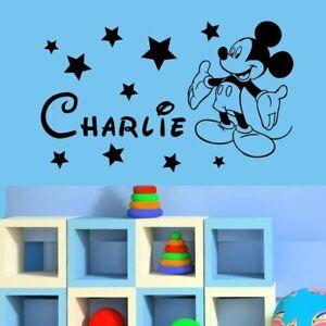 Wall Sticker Custom Baby Name Micky Mouse Vinyl Decor Kids Nursery Room Decal