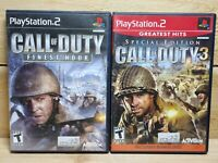 PS2 Shooting Game Lot Call of Duty 2 Big Red One & 3 Special Edition
