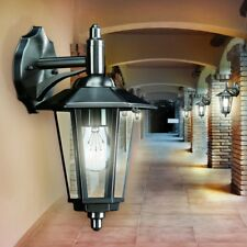 Lampada Metallo Acciaio Inox Esterno Giardino IP44 Lanterna Stile Classico Vetro