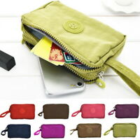Women Organizer Three-Layer Zipper Wallet Mobile Phone Bag Short Coin Purse SH