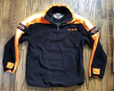 Harley Davidson Mens Full Zip Fleece Jacket Coast Size Medium
