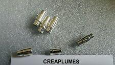 Lot de 5 Sets Fermoirs aimant magnétiques platine  pr Collier 15x4mm