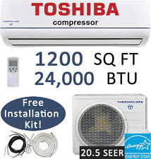 21 SEER 24,000 BTU Ductless AC Mini Split Air Conditioner Heat Pump : 25ft Kit