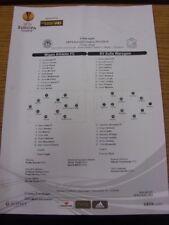 28/11/2013 COLORI teamsheet: Wigan Athletic V SV ZULTE CIN [UEFA EUROPA Leag