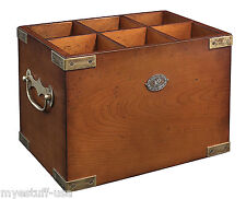 Six-in-One Wooden Wine Storage Box Container by Authentic Models FF101