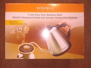 OPEN BOX: ROSEWILL 1 LITER ELECTRIC POUR KETTLE RHKT-17002