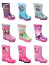GIRLS OFFICIAL CHARACTER WELLIES WELLINGTON RAIN SNOW WELLYS BOOTS SIZE 4-12
