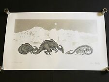DAN MCCARTHY - The Ice Age RARE SIGNED art screen print with metallic silver ink