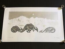 Dan Mccarthy-La Edad De Hielo Rara Arte firmada impresión de pantalla con Plateado Metalizado Tinta