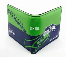 NFL Seattle Seahawks Men's Printed Logo Leather Bi-Fold Wallet